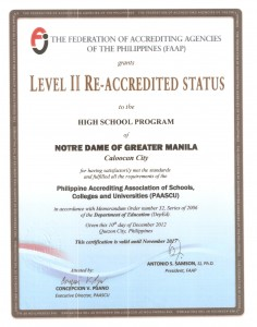 HS PAASCU Accredited